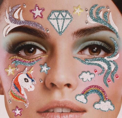 Gezicht Stickers Eenhoorn - Unicorn