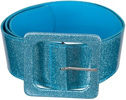 Disco Glitter Riem Turquoise (110x6cm)