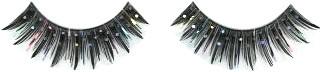Wimpers Zwart-Bonte Strepen met Zilver Nopjes