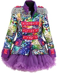 Dames Blazer Purple Holographic Diamonds
