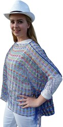Toppers Poncho Multi Blauw
