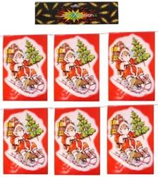 Vlaggenlijn Kerstman Rechthoekig 6mtr