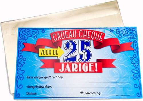 Cadeau Cheque 25 Jarige