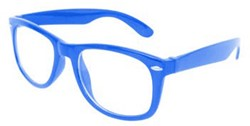 Blues Brother Bril Blauw met blank glas