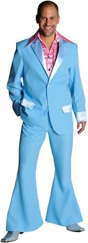 Seventies Kostuum Heer Lichtblauw