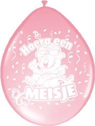 Ballonnen Hoera een Meisje Folatex