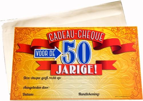 Cadeau Cheque 50 Jarige