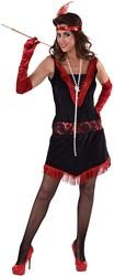 Charleston Jurkje Rood-Zwart voor dames