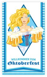 Deurbanner Wilkommen zum Oktoberfest (70x120cm)