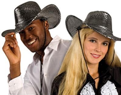 Cowboyhoed Slangenprint Zilver