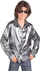 Kinder Blouse Folie Metallic Zilver
