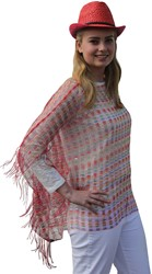 Toppers Poncho Multi Rood