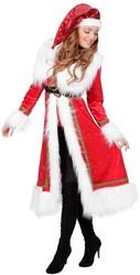 Dames Kerstmantel Velours