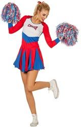 Dames Cheerleaderspakje Rood/Wit/Blauw