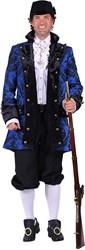 Carnavalsjas Royale Blauw-Zwart voor heren