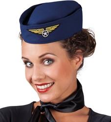Hoedje Stewardess Blauw