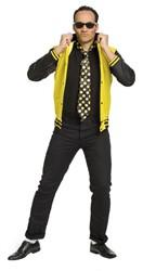 Herenjasje Rock 'n Roll Geel/Zwart met stropdas