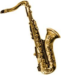 Broche Saxofoon Goud
