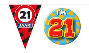 Decoratie & Versiering 21 jaar