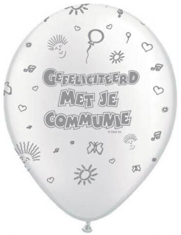 Ballonnen Communie parelmoer 8st