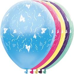 Ballonnen 4 jaar Metallic 5st
