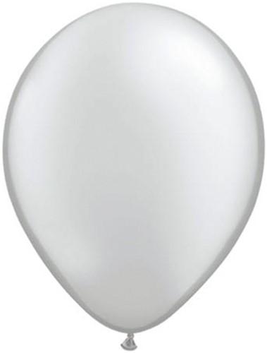 Ballonnen Metallic Zilver 10st