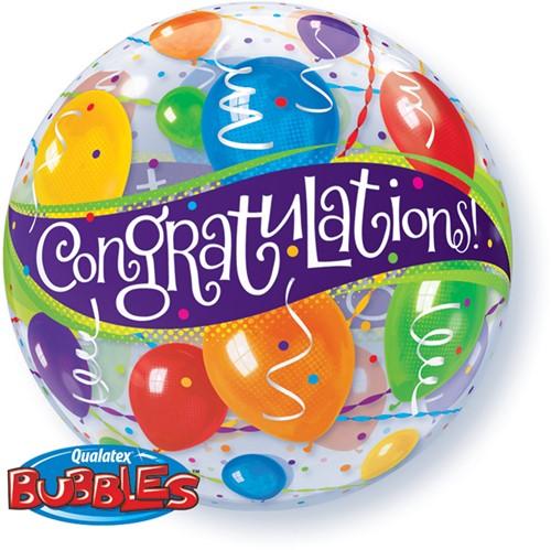 Bubble Ballon Congratulations