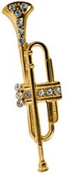 Broche Trompet Goud