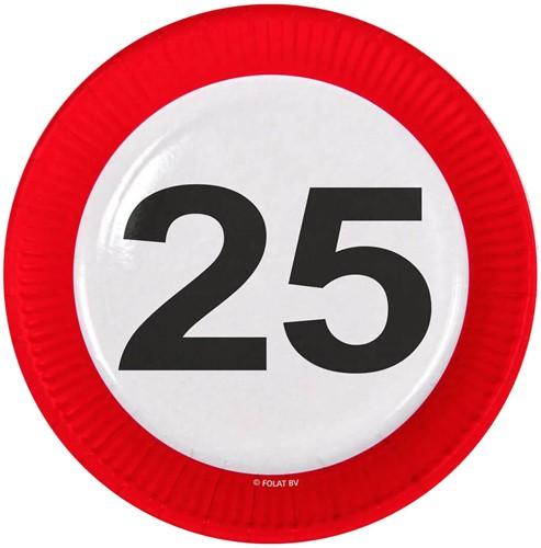 Bordjes 25 jaar Verkeersbord 8st