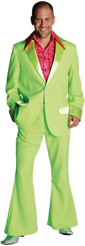 Seventies Kostuum Heer Neon Groen