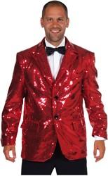 Colbert Pailletten Luxe Gevoer Rood