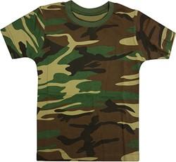 Kinder Leger T-Shirt Camouflage