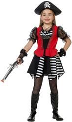 Meisjes Piratenjurkje Zwart-Wit Gestreept