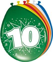 Ballonnen 10 jaar 8st