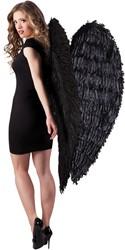 Engelenvleugels Mega Zwart 120 x 120 cm