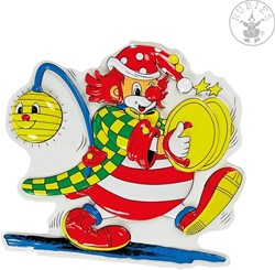 Wanddeco Clown Bekkens