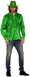 Disco Ruches Blouse Luxe Groen
