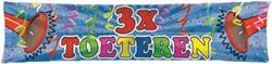 Banner 3x TOETEREN!! 40X180CM