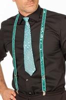 Bretels Pailletten Turquoise