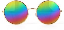 John Lennon Bril met Spiegel Olieglas Geel
