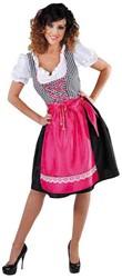 Dames Dirndl Pink/Zwart Luxe