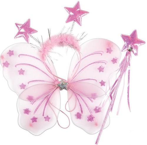 Vlinderset Roze