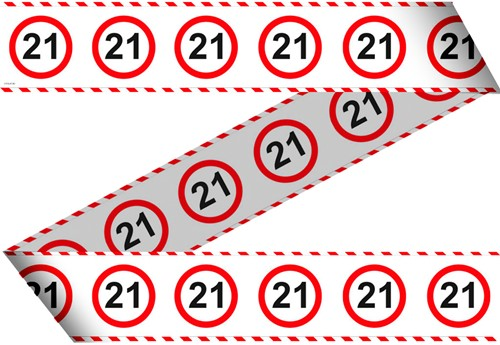 Markeerlint 21 Jaar Verkeersbord