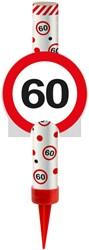 IJsfontein 60 Verkeersbord