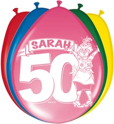 Ballonnen 8st Sarah Stripes
