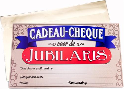 Cadeau Cheque Jubilaris