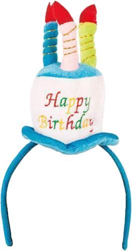 Diadeem met Taarthoedje Happy Birthday