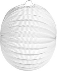 Lampion Wit Bolvorm 22cm