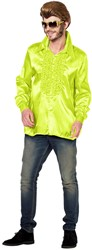 Disco Ruches Blouse Luxe Neon Geel