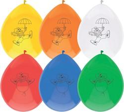 Ballonnen Clown 6 stuks